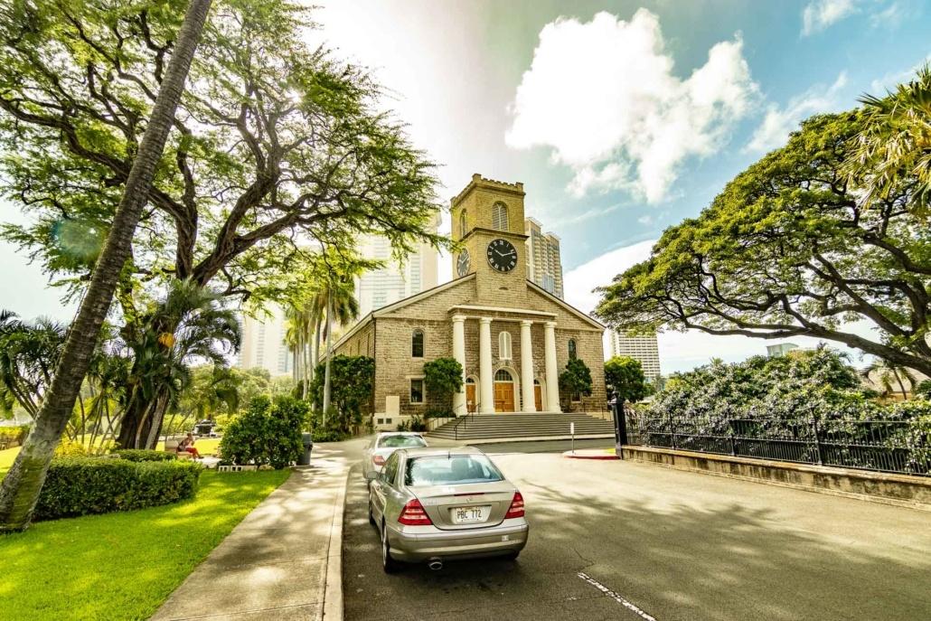 Entrance Road at Kawaiahao Church
