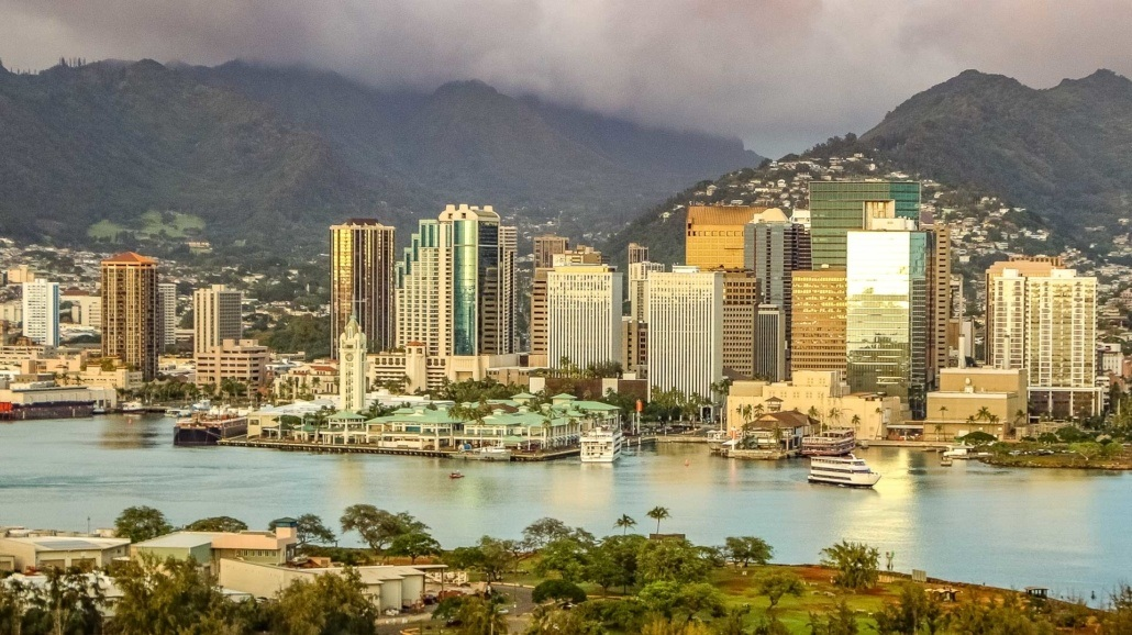Honolulu Harbor and Aloha Tower