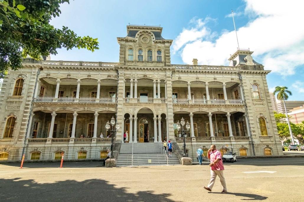 Iolani Palace Back of Building
