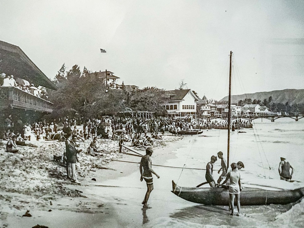 Waikiki Beach circa 1915 Before Royal Hawaiian Hotel was built here