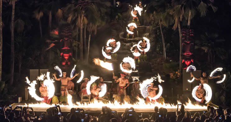 Chief Luau Fire dancers Hawaii