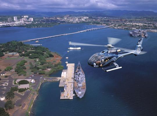 Aerial helicopter Pearl Harbor