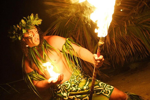 Fire Dancer at Germaines Luau