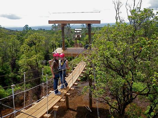 Hilo rainforest zipline