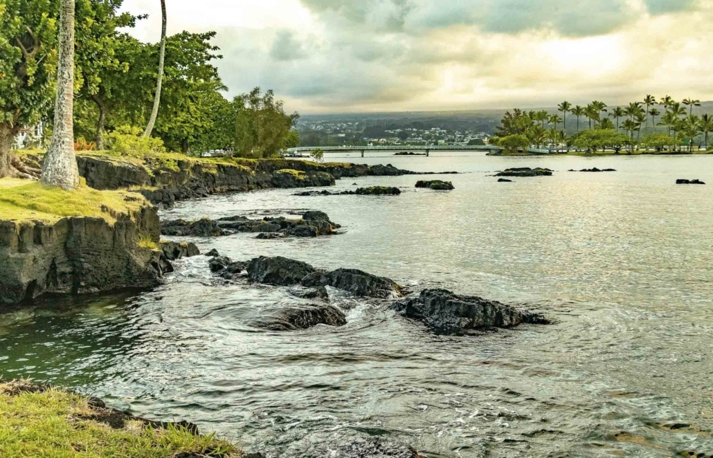 Hilo Bay Coastline Big Island