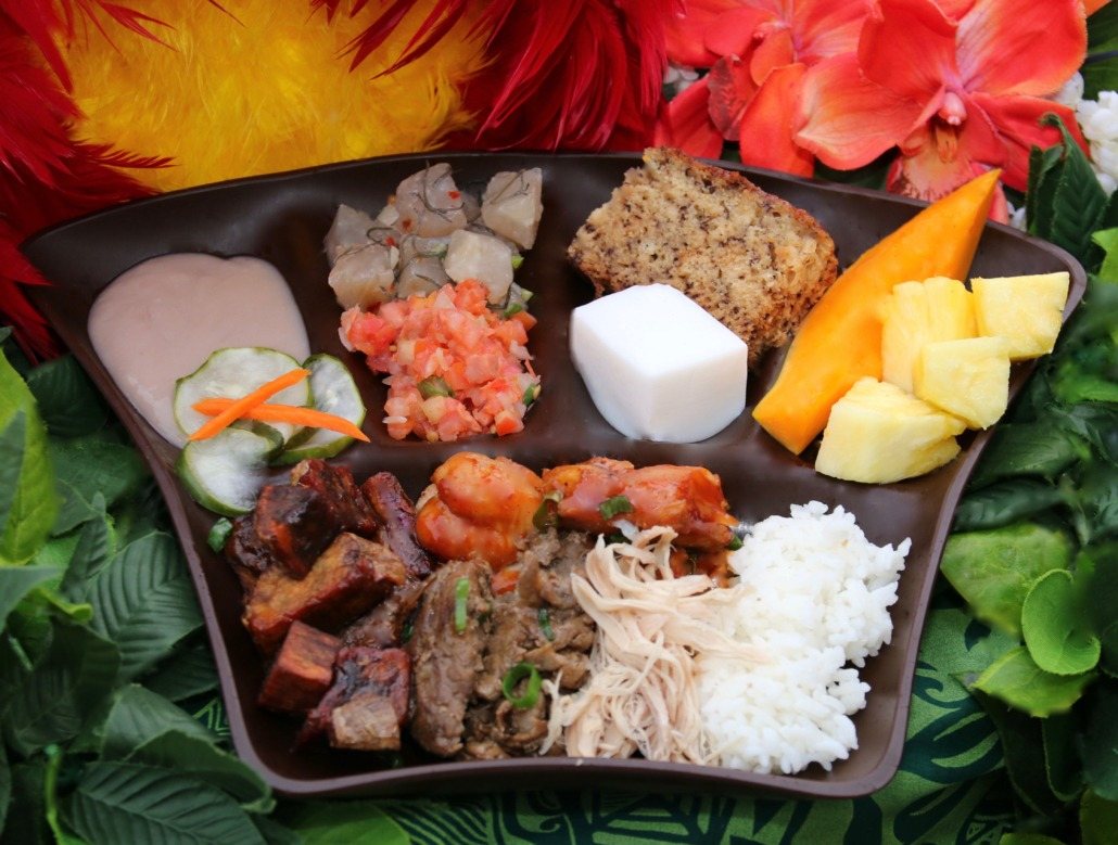Island Breeze Luau Hawaiian food
