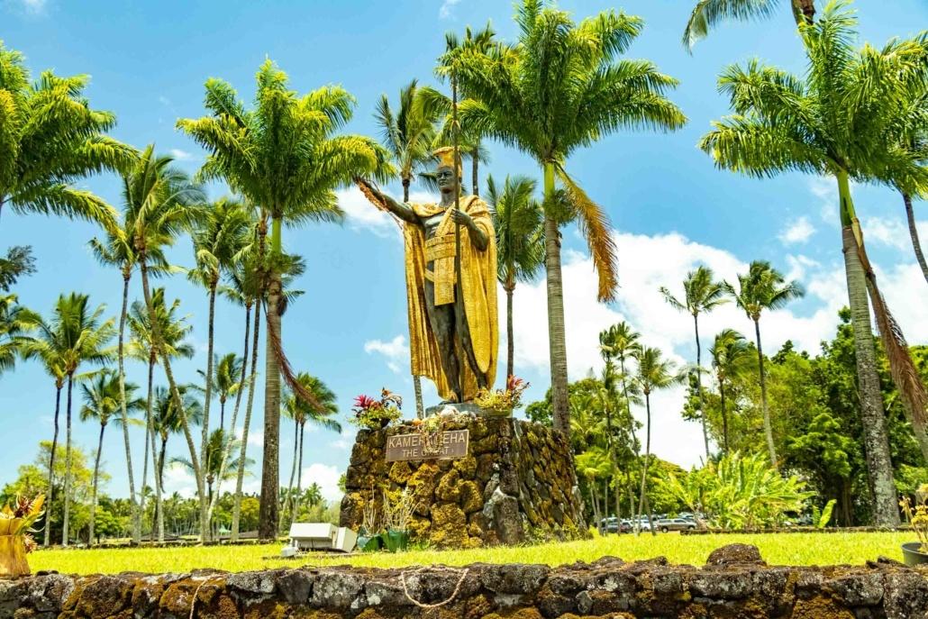 Kamehameha Statue Hilo Park Big Island