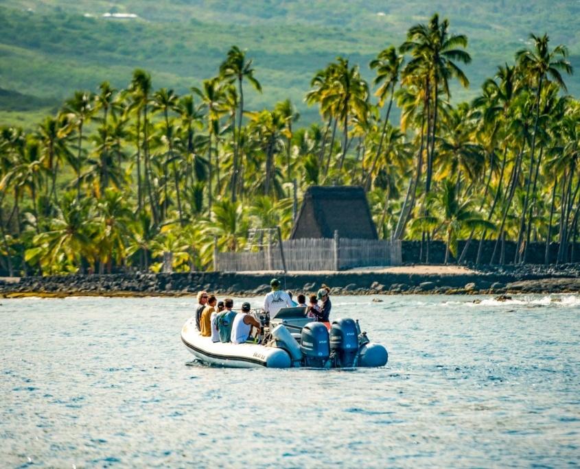 Sea Quest Boat at Place of Refuge Big Island
