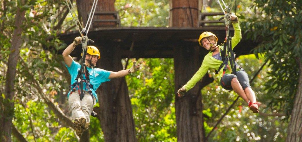 Zipline tour in Hawaii