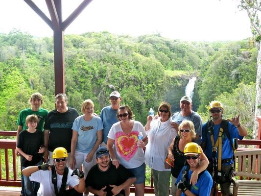 Ziplining Group Hilo