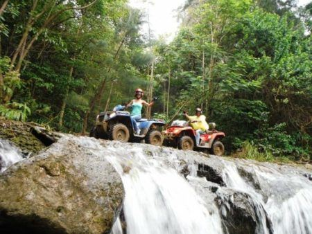 Big Island ATV On Waterfall