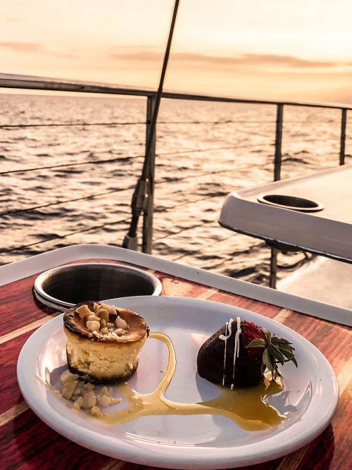 delicious snacks at kaanapali sunset sail