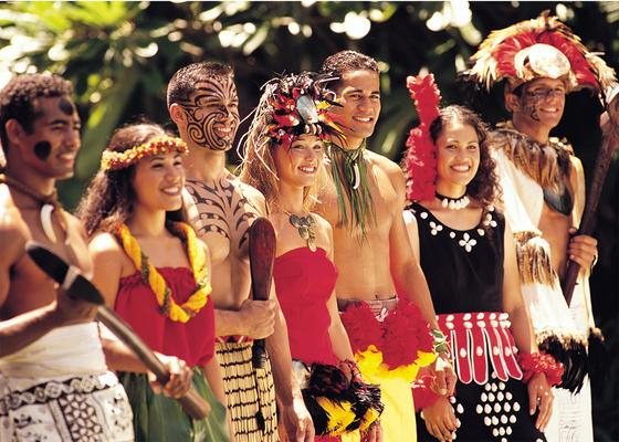 Polynesian Cultural Center Performers Smiling Oahu