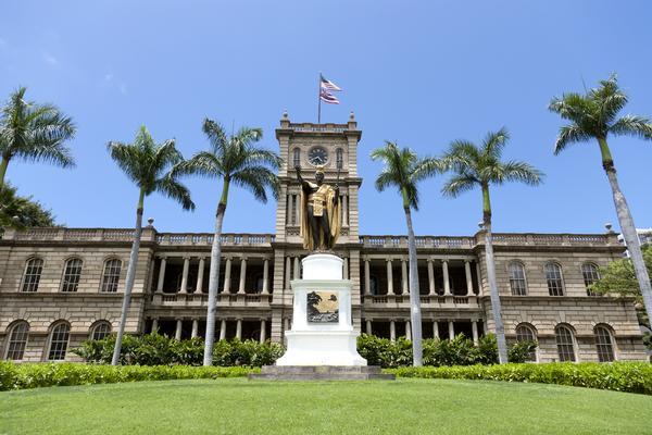 Kamehameha statue Hawaii state supreme court Aliiolani hale