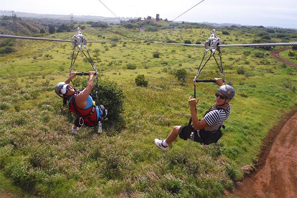 Duel Zipline Visitors