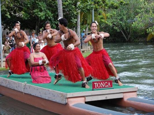 Polynesian Cultural Center Tonga Canoe Dancers Oahu