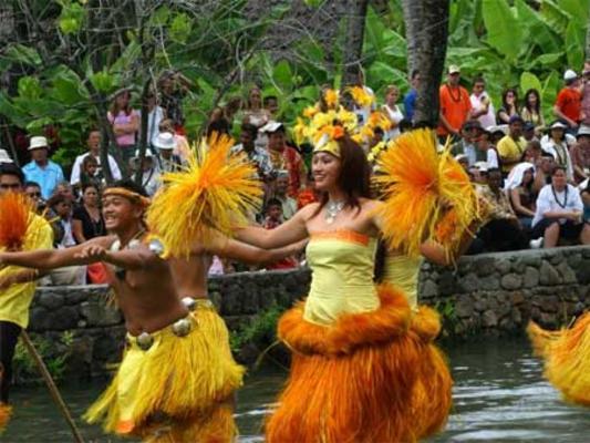 Polynesian Cultural Center Hula Canoe Show Oahu
