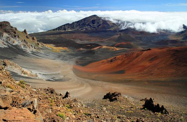 Haleakala Crater On Maui Island