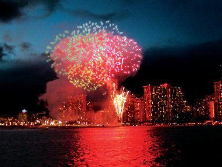 Waikiki Fireworks Dinner Sail