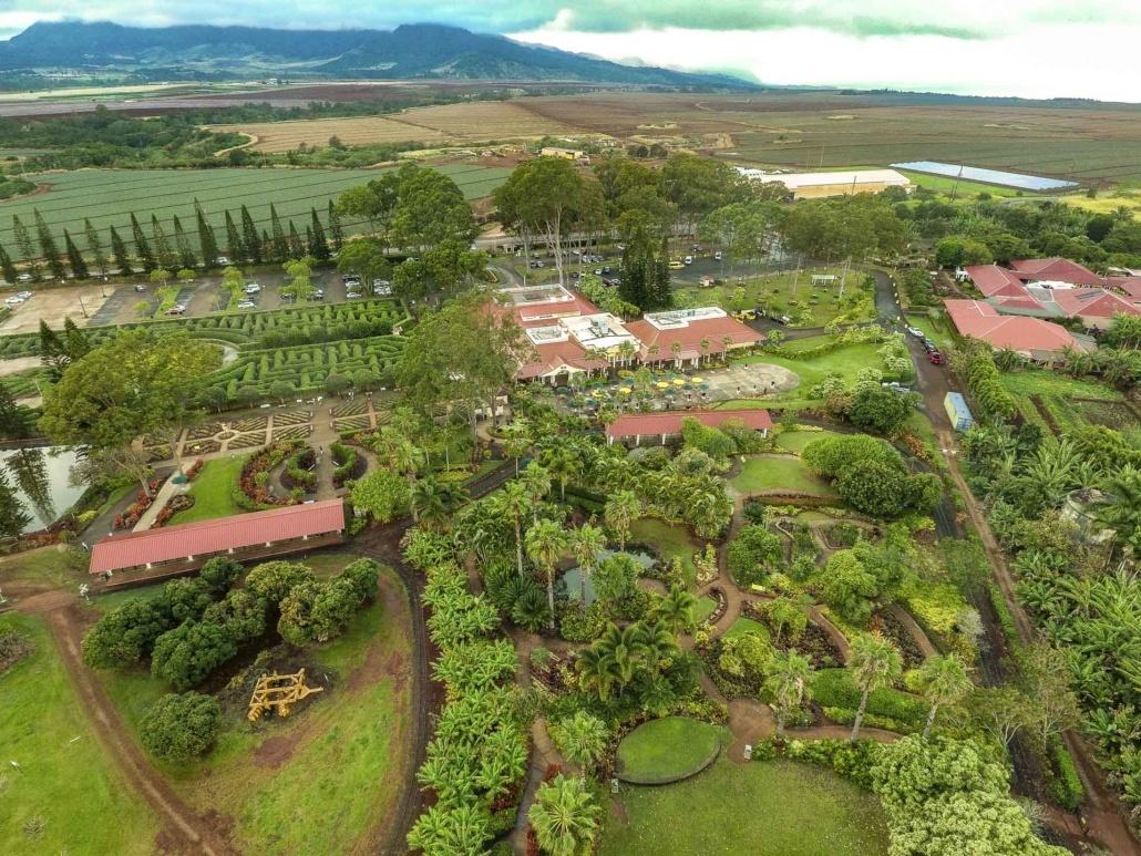 Dole Plantation Aerial Oahu