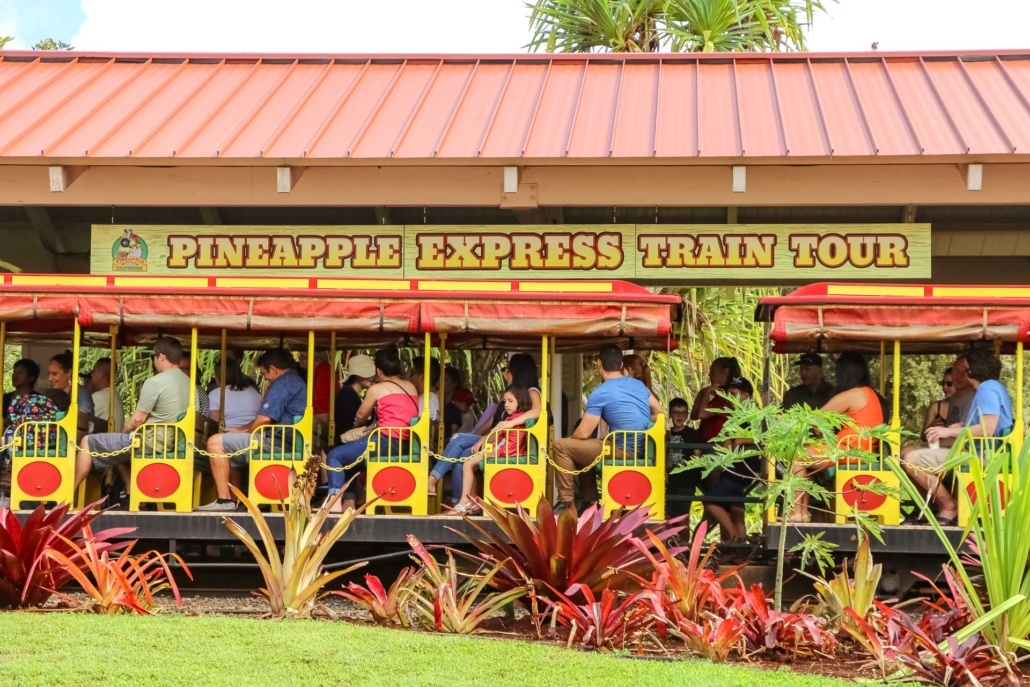 Dole Plantation Train Pineapple Express Visitors Oahu