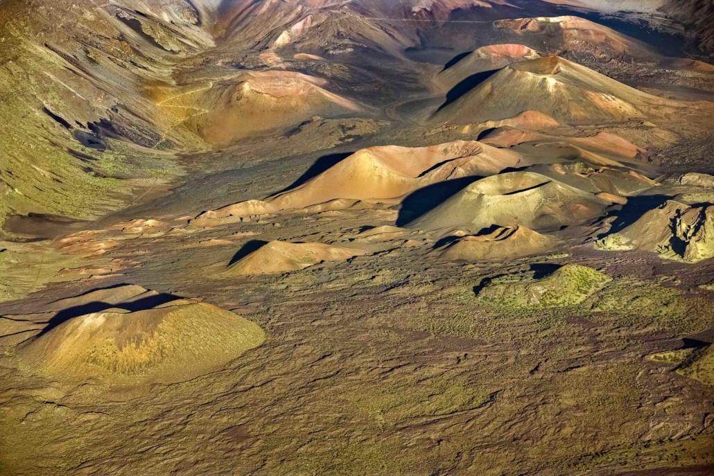 Haleakala Crater Volcano Cones Aerial Maui