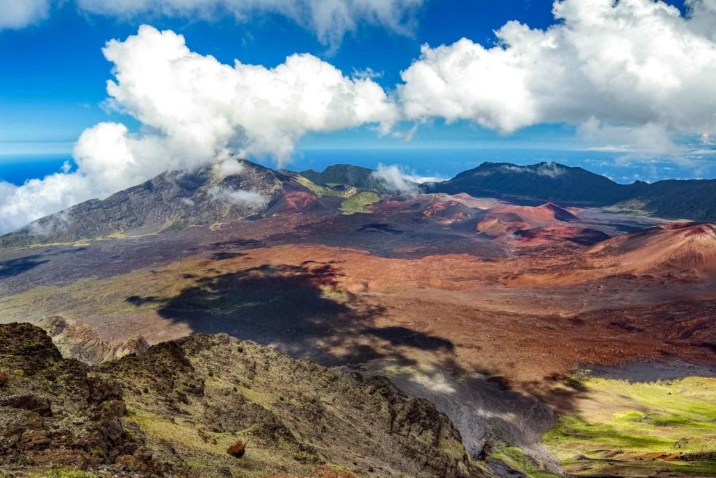 Haleakala Crater Daytime Aerial Maui