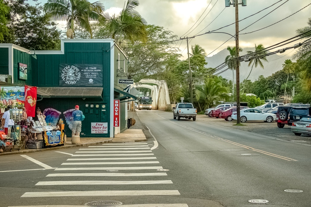 Haleiwa Shops and Bridge Oahu