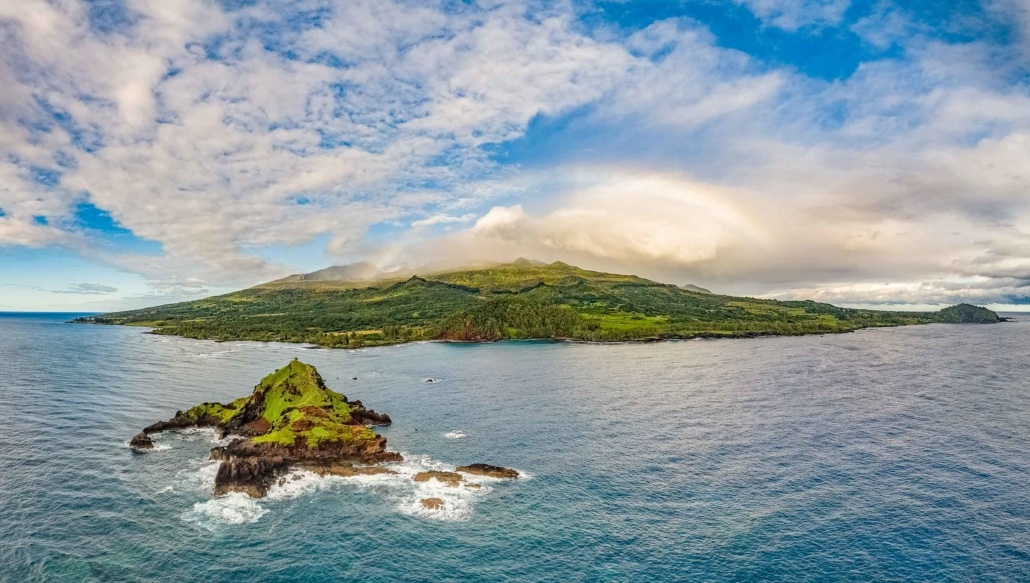 Hana Alau Island and Koki Beach Aerial Maui