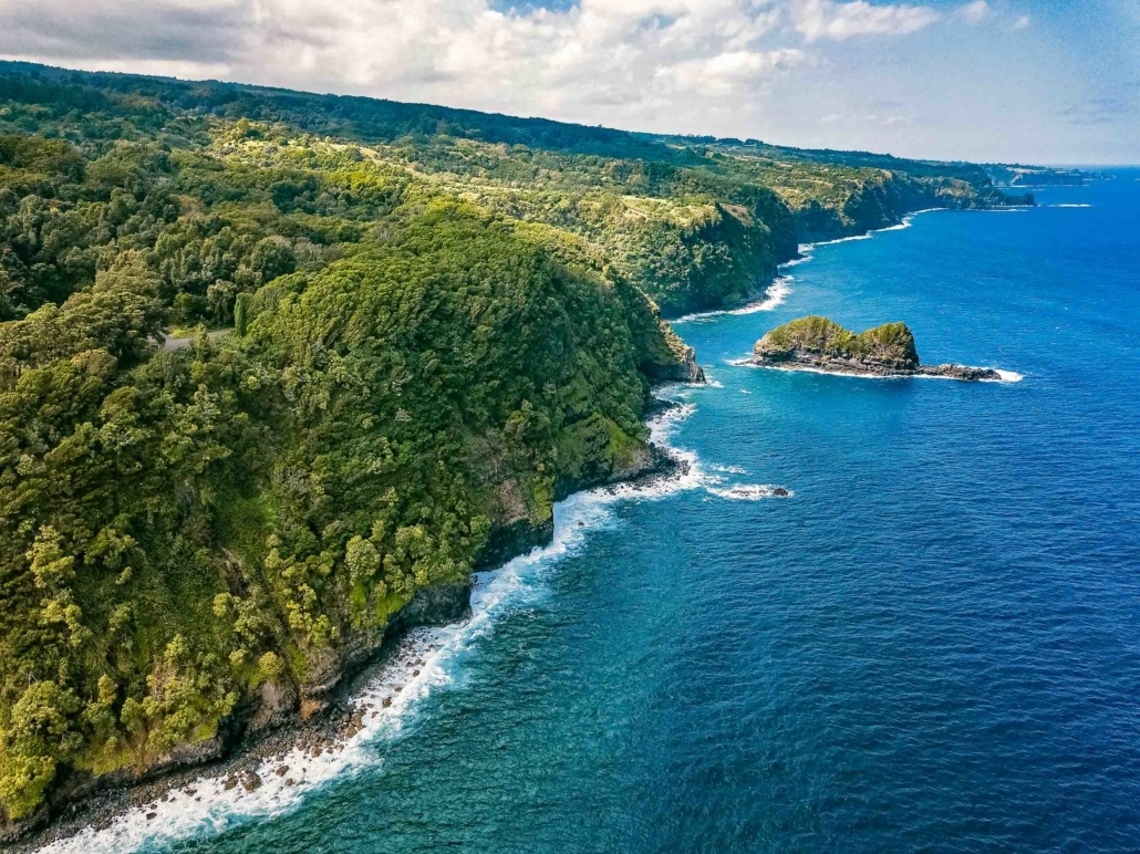 Hana Maui Coastline Aerial
