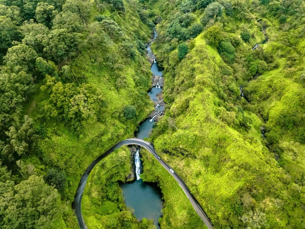 Hana Pools of Oheo Aerial Maui