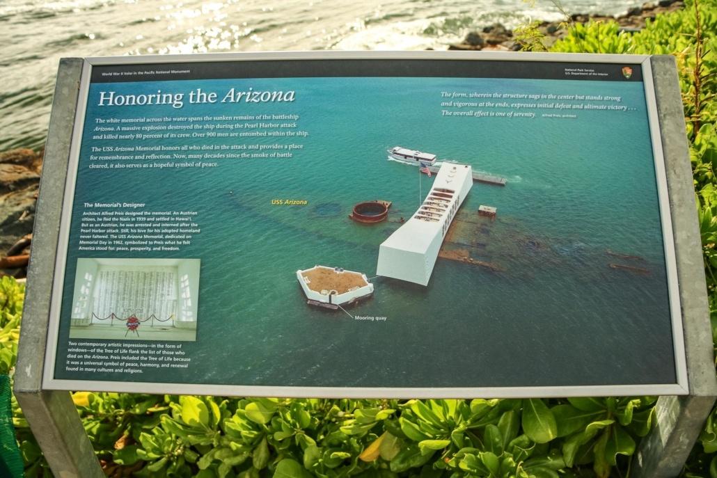 Pearl Harbor Visitor Center Arizona Memorial Sign Oahu