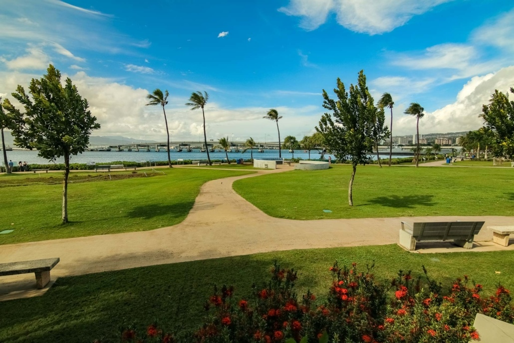 Pearl Harbor Visitor Center Grounds and Bridge