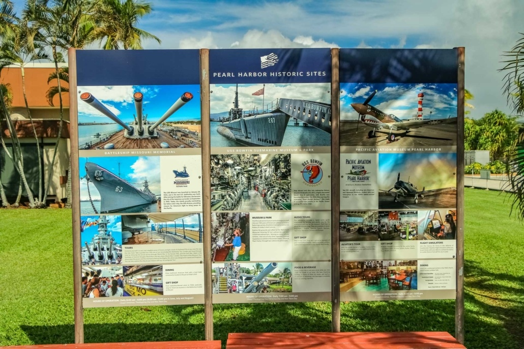 Pearl Harbor Visitor Center Sign of Historic Sites