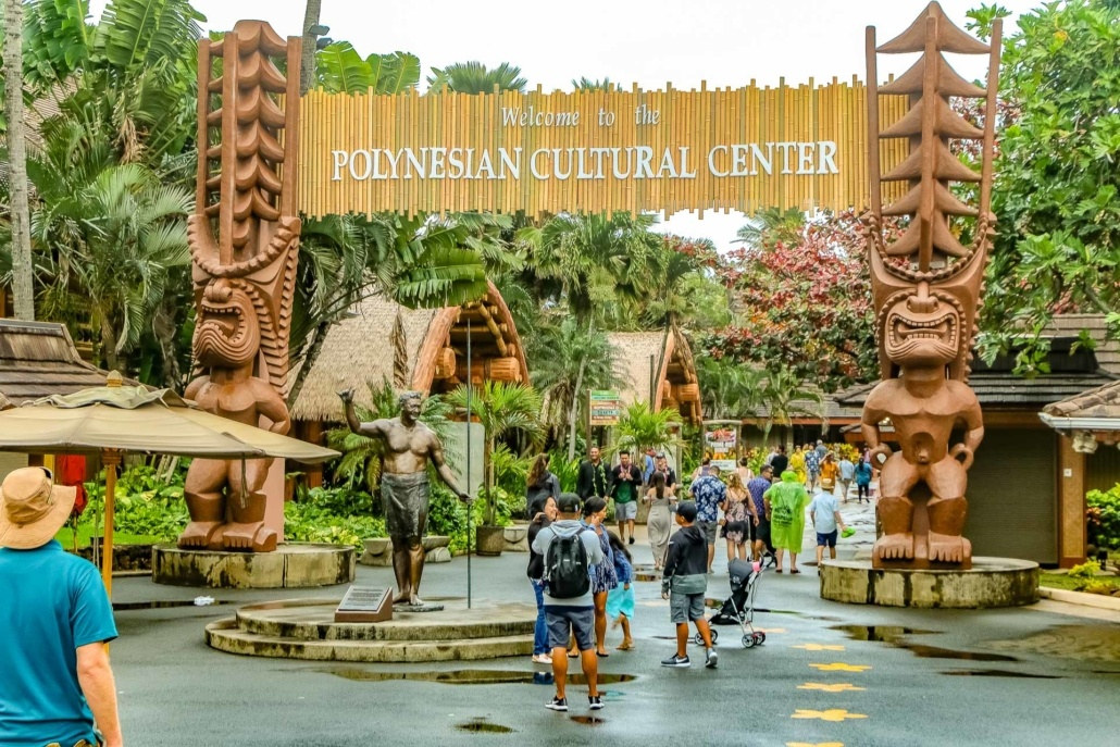 Polynesian Cultural Center Entrance and Statue Oahu