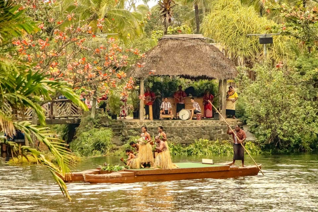 Polynesian Cultural Center Parade of Canoes and Band Oahu