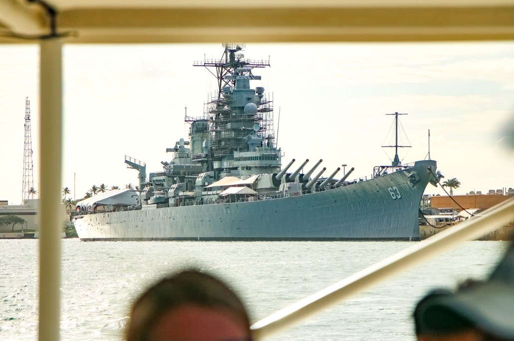 USS Missouri Seen from Boat Pearl Harbor Oahu