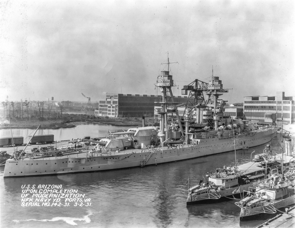 USS Arizona after modernization