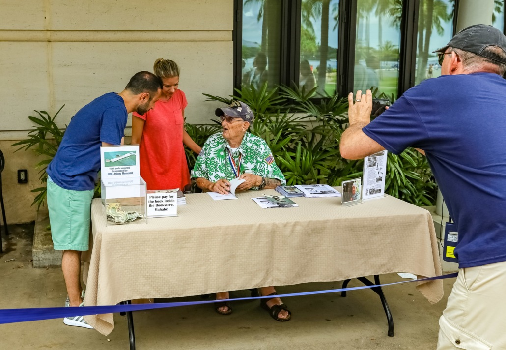 Veteran Volunteer at Pearl Harbor Visitor Center Oahu