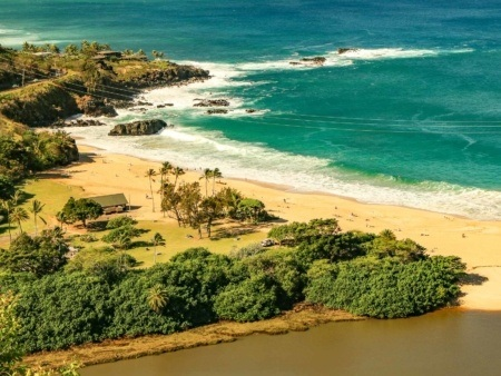 Waimea Bay and Beach North Shore Oahu