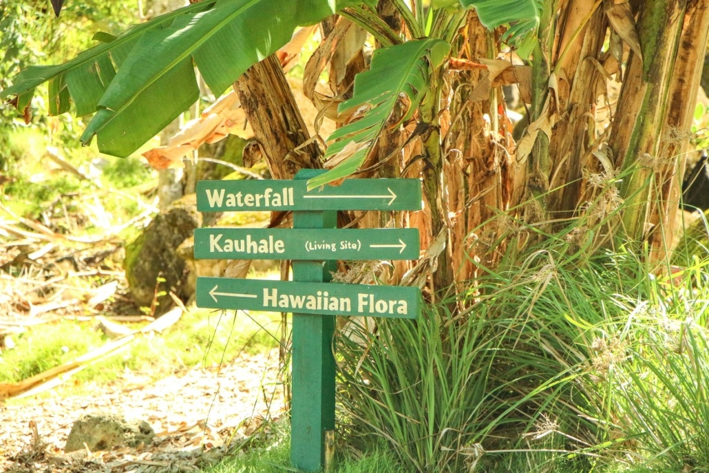 Waimea Valley Direction Signs North Shore Oahu