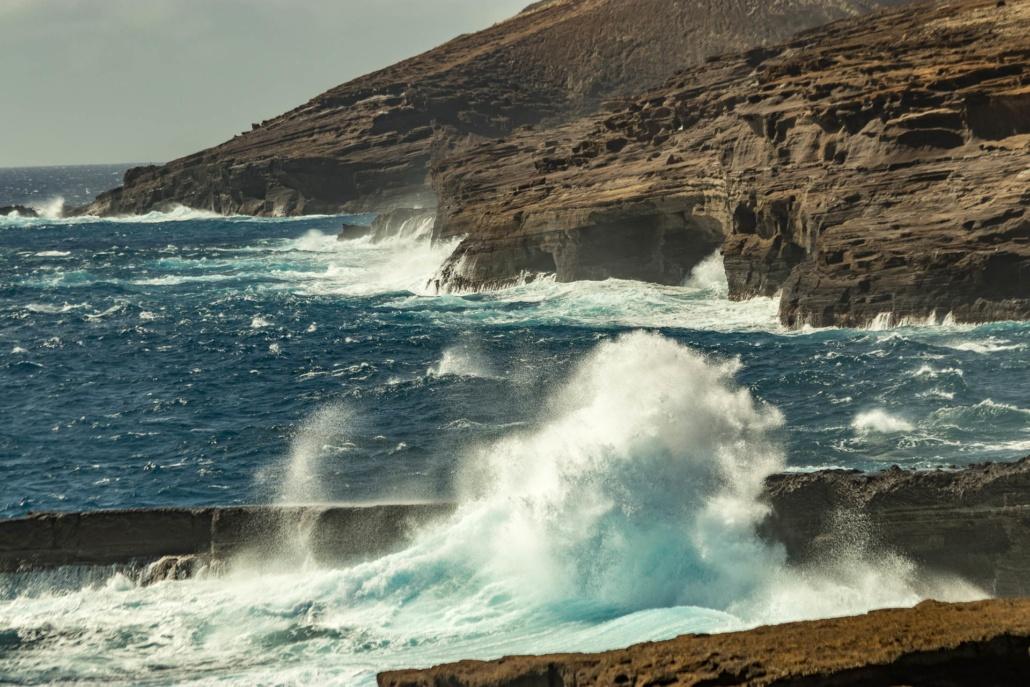 Windward Oahu Cliffs and Waves Oahu