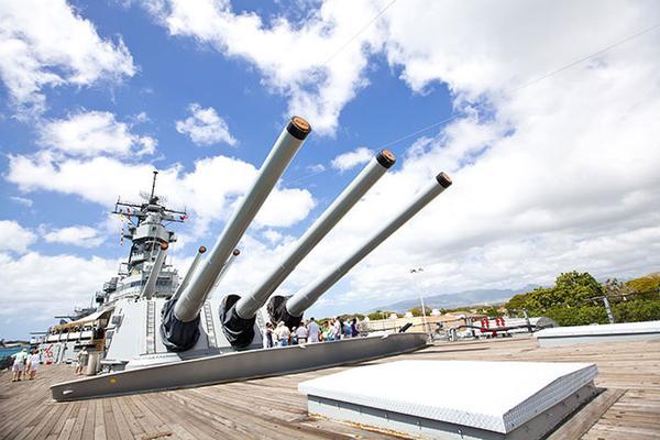 Pearl Harbor tour U.S.S. Missouri Cannons