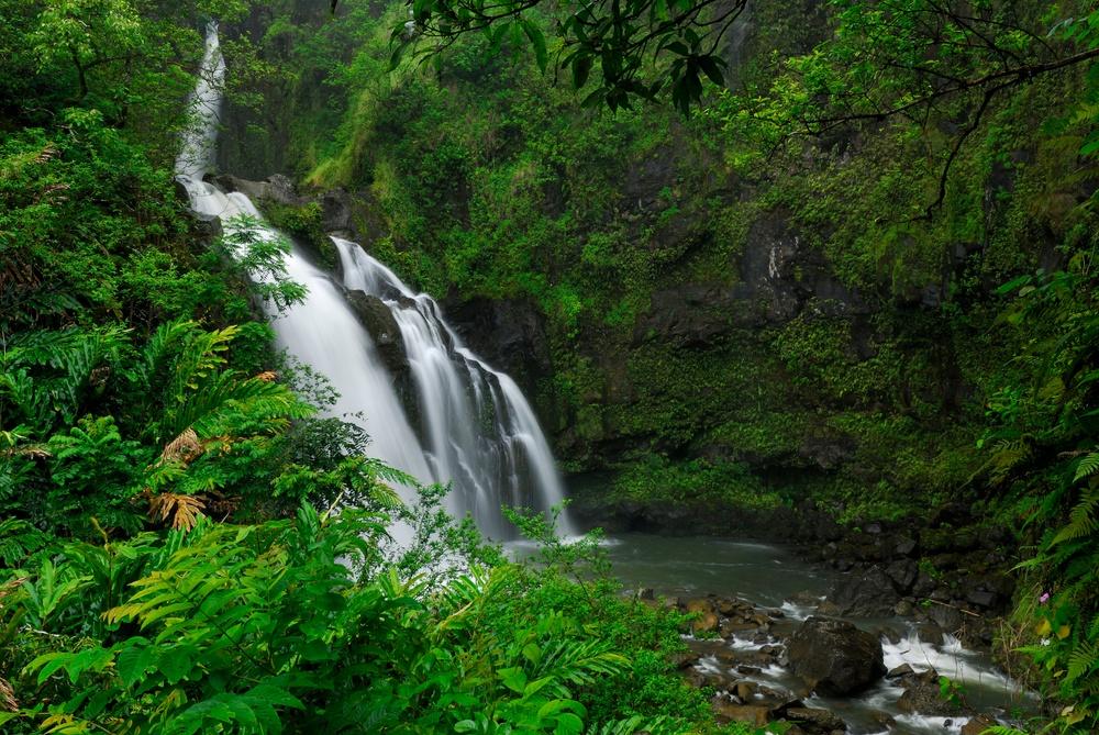 Waterfall along Road to Hana