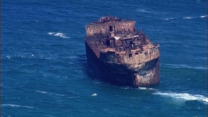 Shipwreck Off Of Lanai