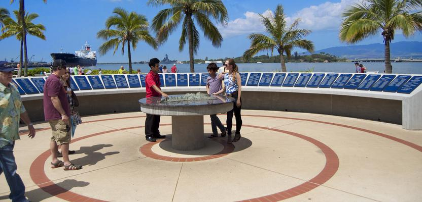 Pearl Harbor Visitor Center Submarine Memorial Walkway Oahu