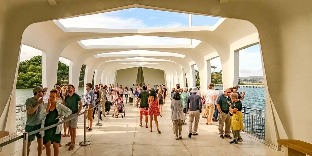 Arizona Memorial Inside Entrance