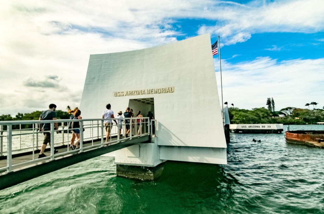 Arizona Memorial Gangway Entrance Visitors Pearl Harbor Oahu