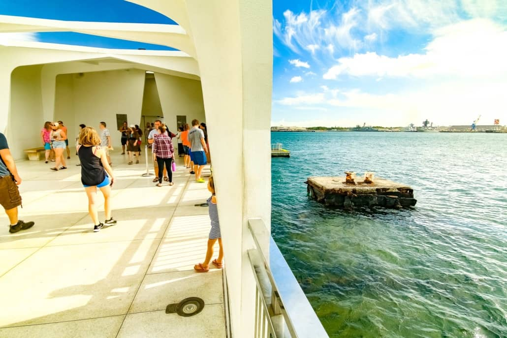 Arizona Memorial Interior Exterior Visitors Pearl Harbor Oahu