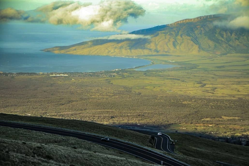Crater Road Morning Maalaea View from Haleakala Maui